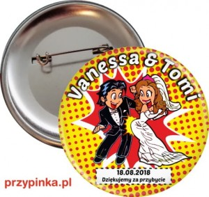 Crazy  Wedding- przypinka 56 mm