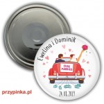 Weselny magnes 56mm -Just Married
