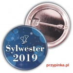Sylwester  Night party - przypinka 37mm