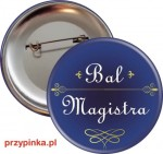 Simple Blue - przypinka na Bal Magistra - 56mm
