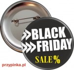 Black Friday - przypinka 56mm