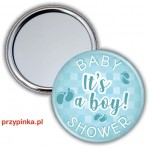 Baby Shower Boy - lusterko 56mm