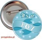 It's a boy! - przypinka 56mm