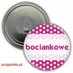 Bociankowe Pink Dots - magnes 56mm
