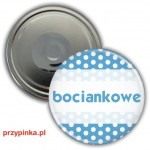 Bociankowe Blue Dots - magnes 56mm