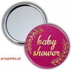 Elegant Girl - Baby Shower - lusterko 56mm