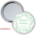 Simple Mint and White - lusterko weselne 56mm