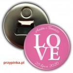 This is Love - weselny magnes z otwieraczem 56mm