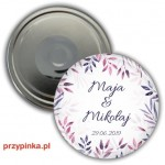 Purple twigs - magnes 56mm