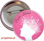 Pink Women's Day - przypinka 56 mm
