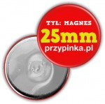 25mm Magnes okrągły