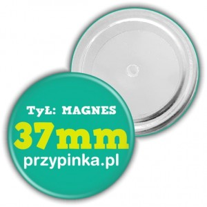 37mm Magnes okrągły