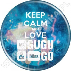Przypinki KEEP CALM and LOVE Mr. GUGU & Miss GO