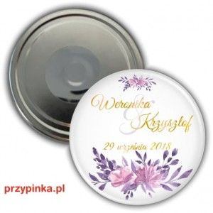 Elegant Purple - magnes 56mm