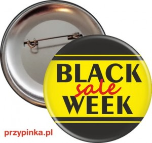 Black Week - przypinka 56mm