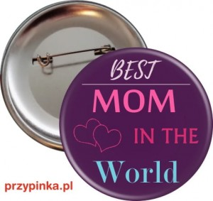 Best MOM - przypinka 56mm