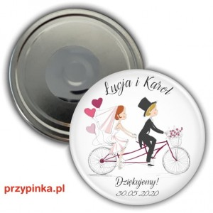 Love and Bike - weselny magnes 56mm