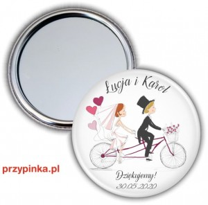 Love and Bike - weselne lusterko 56mm