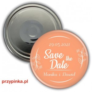 Save the Date - Juicy Melon - magnes 56mm
