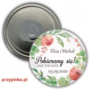 Save the Date - EukaliptusoweLove - magnes 56mm