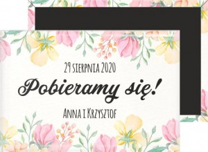 Save the Date - PasteLove - magnes prostokątny