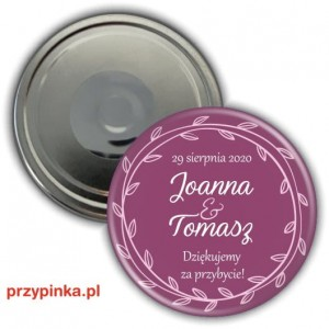 Purple and Pink Mix - magnes weselny 56mm