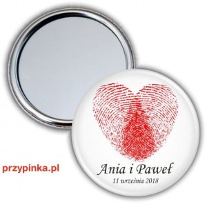 Fingerprint heart - lusterko 56mm