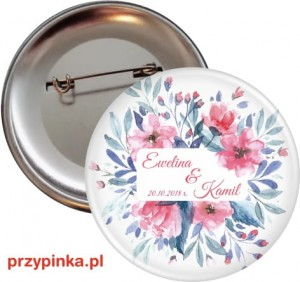 Pink and blue - przypinka 56mm
