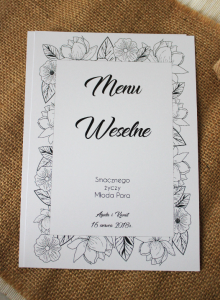Floral sketches - Menu weselne