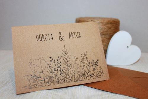 Eco Flowers Zaproszenie ślubne Przypinkapl