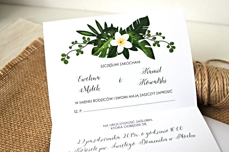 Green Wedding Zaproszenie ślubne Przypinkapl